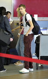 Actor Michael Cera is seen at LAX Royalty Free Stock Images
