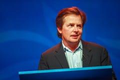 Actor Michael J De vos levert een adres aan IBM Lotusphere royalty-vrije stock afbeeldingen