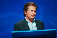 Actor Michael J De vos levert een adres aan IBM Lotusphere royalty-vrije stock fotografie