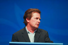 Actor Michael J. Fox delivers an address Royalty Free Stock Image