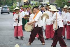 The actor, musician in Lamphun International Drum Stock Photos