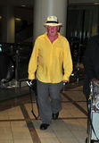 Actor Nick Nolte at LAX airport. LOS ANGELES-AUGUST 29: Actor Nick Nolte at LAX airport. August 29 in Los Angeles, California 2011 Stock Image