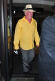 Actor Nick Nolte at LAX airport Stock Photos