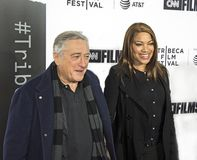 Robert DeNiro and Grace Hightower arrive on Opening Night of 17th Tribeca Film Festival Royalty Free Stock Images