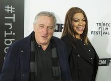 Robert DeNiro and Grace Hightower arrive on Opening Night of 17th Tribeca Film Festival Stock Image