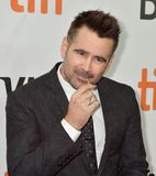 Colin Farrell at the premiere of Widows at Toronto international Film Festiva l2018. Actor and oscar nominee Colin Farrell at the premiere of `Widows` at Roy Royalty Free Stock Image