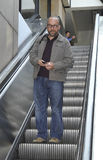 Actor Paul Giamatti at LAX airport. LOS ANGELES-AUGUST 17: Actor Paul Giamatti at LAX airport. August 17 in Los Angeles, California 2011 Stock Photography
