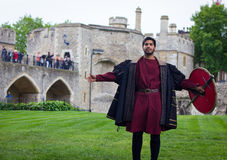 Actor Performing Open Air Theater Shakespeare stock images