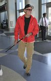 Actor Peter Fonda is seen at LAX. LOS ANGELES - SEPTEMBER 9 : Actor Peter Fonda son of legendary actor Henry Fonda and brother to actress Jane fonda is seen with Royalty Free Stock Images