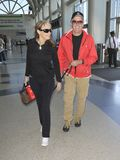 Actor Peter Fonda is seen with wife at LAX Stock Photo