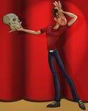 Actor playing hamlet vector illustration