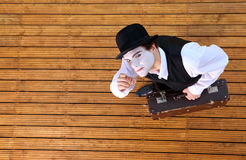 Actor playing a pantomime. Portrait of an actor playing a pantomime Royalty Free Stock Photos