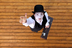 Actor playing a pantomime. Portrait of an actor playing a pantomime Stock Photo