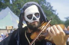 Actor Playing Violin at Renaissance Faire, Agoura, California Royalty Free Stock Photos