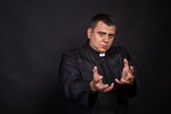 The actor plays the role of a priest Royalty Free Stock Photography