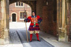 Actor portrays the guard Stock Image