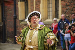 An actor portrays King Henry VIII stock image