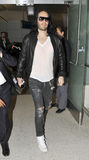 Actor Russel Brand at LAX airport Stock Photography