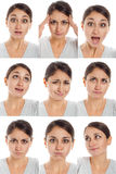 Actor's face, a compilation of emotions Stock Photography