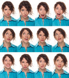 Actor's face, a compilation of emotions Stock Image
