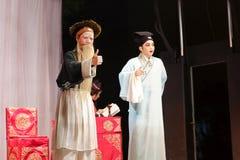 Actor secundario y actor, calmas jinyuliangyuan de la ópera taiwanesa fotografía de archivo