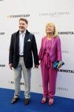 Actor Sergei Makovetsky with his wife Elena Stock Image