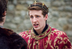 Actor In Shakespeare Open Air Theater. King of England Royalty Free Stock Photos