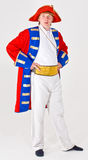 Actor in ship captain costume. An actor dressed up in costume as a ship's captain Stock Photos