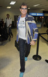 Actor/singer David Hasselhoff at LAX airport Stock Photo