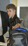 Actor/singer Justin Bieber at LAX airport Stock Photography