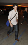 Actor singer Nick Jonas at LAX airport. Royalty Free Stock Image