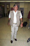 Actor/television star R Lee Ermey at LAX airport. LOS ANGELES-SEPTEMBER 05: Actor/television star R Lee Ermey at LAX airport. September 05 in Los Angeles Royalty Free Stock Images