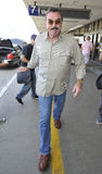 Actor Tom Selleck at LAX airport. LOS ANGELES-AUGUST 17: Actor Tom Selleck at LAX airport. August 17 in Los Angeles, California 2011 Royalty Free Stock Photos