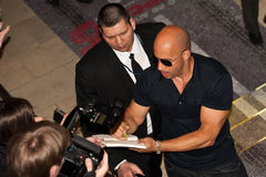 Actor Vin Diesel in Moscow. Moscow/Russia - April 23th 2011 - Actor Vin Diesel on the red carpet of the Fast Five movie premiere in the Oktyabr' cinema Royalty Free Stock Photography