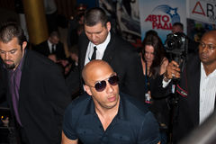 Actor Vin Diesel in Moscow 2011 Stock Photos