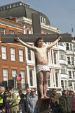Actor who plays Dismas is crucified Royalty Free Stock Photo