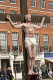 Actor who plays Gestas is crucified Stock Photo