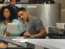 Actor Will Smith at LAX airport Royalty Free Stock Images