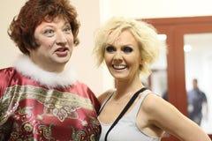 Actor Yuri Galtsev and singer Valeria Royalty Free Stock Photos