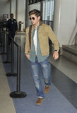 Actor Zac Efron is seen at LAX. LOS ANGELES-JULY 24: Actor Zac Efron is seen at LAX . July 24th in Los Angeles, California 2010 Stock Photos