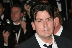 Actoren Charlie Sheen royalty-vrije stock foto