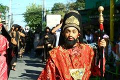 Actoren en Karakters in het weer invoeren van de Hartstocht van Christus royalty-vrije stock fotografie