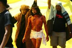 Actoren en Karakters in het weer invoeren van de Hartstocht van Christus royalty-vrije stock afbeeldingen