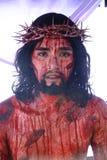 Actoren en Karakters in het weer invoeren van de Hartstocht van Christus royalty-vrije stock foto