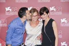 Actoren Filippo Timi, Cristina Comencini en Claudia Pandolfi stock afbeeldingen