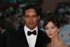 Actoren Gabriel Garko en Isabella Orsini royalty-vrije stock fotografie