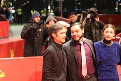 Actoren Gael Garcia Bernal, Bernardo Velasco, Ilse Salas stock afbeeldingen