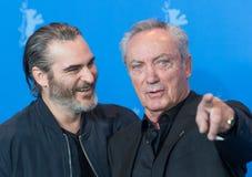 Actoren Joaquin Phoenix en Udo Kier tijdens Berlinale 2018 Stock Fotografie
