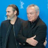 Actoren Joaquin Phoenix en Udo Kier tijdens Berlinale 2018 Stock Foto's