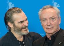 Actoren Joaquin Phoenix en Udo Kier tijdens Berlinale 2018 Royalty-vrije Stock Fotografie